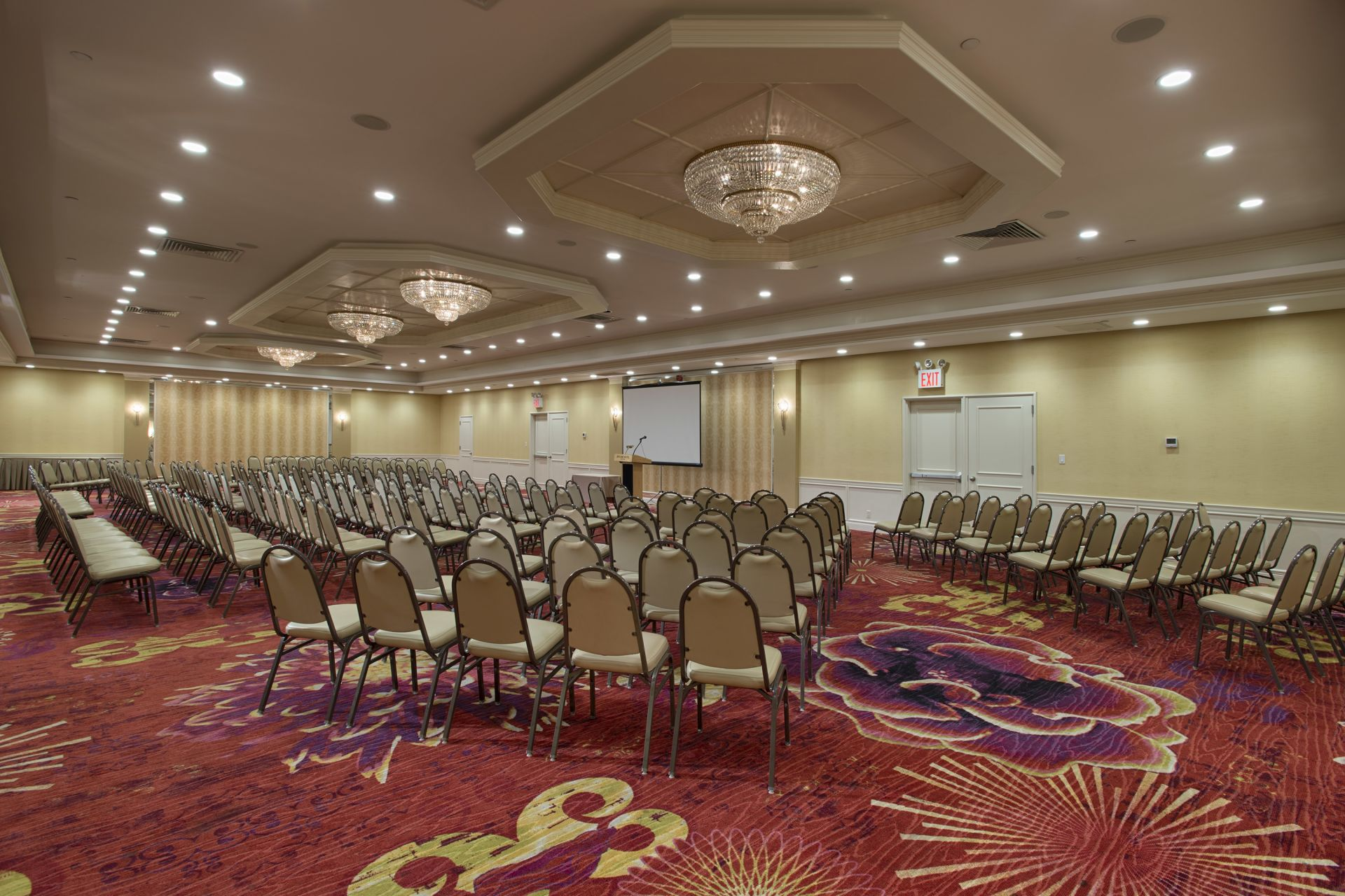 The fully furnished, spacious grand ballroom venue space in NYC